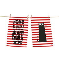 Butter Kings Set of tea towels 2pcs home with cat - Dish towel