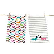 Butter Kings set of 2 pcs DACHSHUNDS IN COLOURS - Dish towel