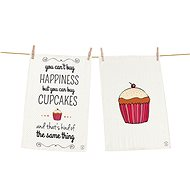 Butter Kings Happiness and Cupcakes Kitchen Towel Set - Dish towel