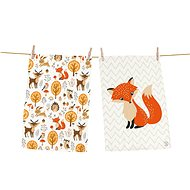 Butter Kings Set of 2 Wipes, FOREST FRIENDS - Dish towel