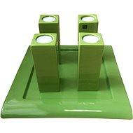 By-inspire Set of 4 candle holders with tray - Candlestick