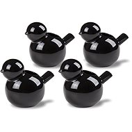 By-inspire Set of Pots / Candlesticks 4pcs Black - Candlestick