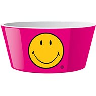ZAK Cereal bowl SMILEY 15cm, raspberry colour - Bowl
