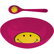 ZAK Breakfast set SMILEY 17cm, raspberry colour - Set