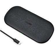 ChoeTech 5-Coils Dual Wireless Fast Charger Pad 10W Black - Wireless Charger