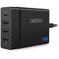 ChoeTech Multi Charge USB-C PD 60W + 3x USB-A Charging Station - AC Adapter