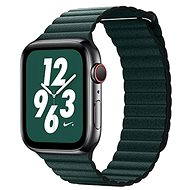 COTEetCI Loop Band Leather Magnetic Strap for Apple Watch 38/40mm Dark Green - Watch band