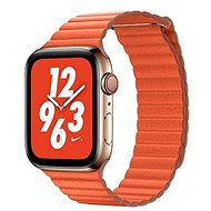 COTEetCI Loop Band Leather Magnetic Strap for Apple Watch 38/40mm Orange - Watch band