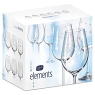 CRYSTALEX Wine Glass 450ml 6pcs ELEMENTS - Wine Glasses
