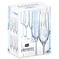 CRYSTALEX ELEMENTS Champagne Glasses, 190ml, 6pcs - Glass for Champagne