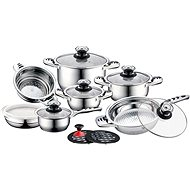 CS Solingen Stainless steel cookware set with AURICH thermometer 16pcs - Pot Set