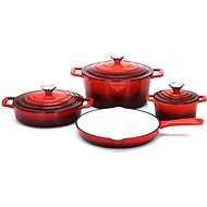 CS Solingen XANTEN 7pcs Cast Iron Cookware Set - Pot Set