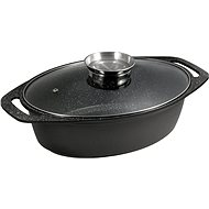 CS Solingen Marble-Coated Casserole with Aroma Lid MARBURG 32cm - Roasting Pan