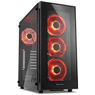Sharkoon TG5 Glass Red - PC Case