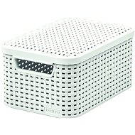 Curver storage basket RATTAN Style2 with lid S - Storage Box