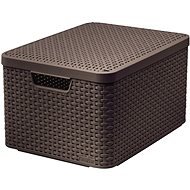 Curver Style 2 Storage Box with a Lid Rattan Look Size M - Storage Box