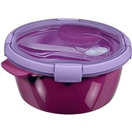 CURVER SMART TO GO 1,6l with a harness, a bowl and a tray - purple - Container