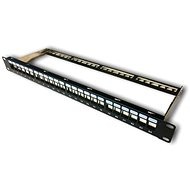 "Datacom Patch Panel 19"", Unassembled 24 port 1U BK / VL"