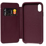 Decoded Leather Slim Wallet Purple iPhone XR - Mobile Case