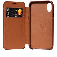 Decoded Leather Slim Wallet Brown iPhone XS Max - Mobile Case