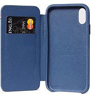 Decoded Leather Slim Wallet Blue iPhone XS Max - Mobile Case