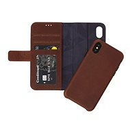 Decorated Leather 2in1 Wallet Case Brown iPhone X - Mobile Phone Case