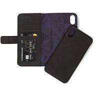 Decorated Leather 2in1 Wallet Black iPhone XR - Mobile Phone Case
