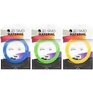 3DSimo Filament ABS - blue, green, yellow 15m - 3D Pen Filament