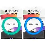 3DSimo Filament FLUORESCENT blue, green 15m - 3D Pen Filament