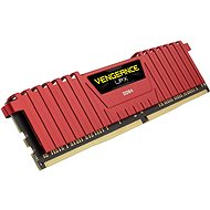 Corsair 8GB DDR4 2666MHz CL16 Vengeance LPX Red - System Memory