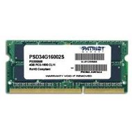 PATRIOT 4GB SO-DIMM DDR3 1600MHz CL11 Signature Line - System Memory