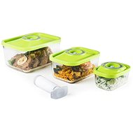 Status 4-piece Vacuum Container Set, GLASS, GREEN - Vacuum Sealer