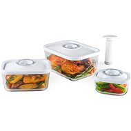Status 4-piece Box Vacuum Set, GLASS, WHITE - Vacuum Sealer