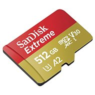 SanDisk MicroSDXC 512GB Extreme A2 UHS-I (V30) U3 + SD Adapter - Memory Card