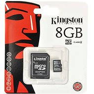 Kingston Micro SDHC 8GB Class 4 + SD Adapter - Memory Card