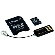 Kingston MicroSDHC 8GB Class 4 + SD Adapter and USB Reader - Memory Card