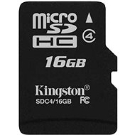 Kingston MicroSDHC 16GB Class 4 - Memory Card
