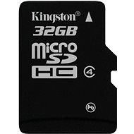 Kingston MicroSDHC 32GB Class 4 - Memory Card