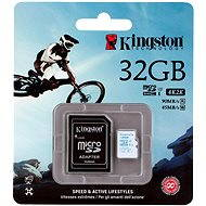 Micro Kingston 32GB SDHC Class 10 UHS-I U3 Action Camera + SD Adapter - Memory Card