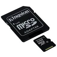 Kingston Micro SDHC 64GB Class 10 UHS-I + SD Adapter - Memory Card