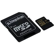 Kingston MicroSDHC 16GB UHS-I U3 + SD Adapter - Memory Card