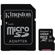 Kingston MicroSDXC 128GB UHS-I U1 + SD Adapter - Memory Card