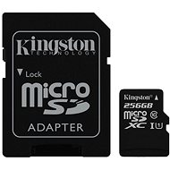 Kingston MicroSDXC 256GB UHS-I U1 + SD Adapter - Memory Card