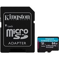 Kingston Canvas Go! Plus microSDXC 64GB + SD Adapter - Memory Card