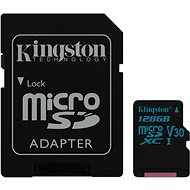 Kingston Canvas Go! MicroSDXC 128GB UHS-I U3 + SD Adapter - Memory Card