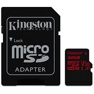 Kingston Canvas React MicroSDHC 32GB A1 UHS-I V30 + SD Adapter - Memory Card