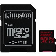 Kingston Canvas React MicroSDXC 256GB A1 UHS-I V30 + SD Adapter - Memory Card