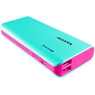 ADATA PT100 Power Bank 10,000mAh Turquoise-Pink - Power Bank
