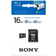 Sony MicroSDHC 16GB Class 10 + SD Adapter - Memory Card