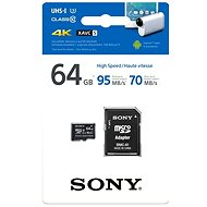 Sony microSDXC 64GB Class 10 + SD Adapter - Memory Card